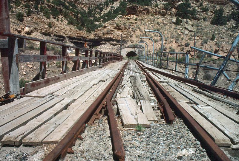 Geneva mine tracks. (Don Butler Photo)