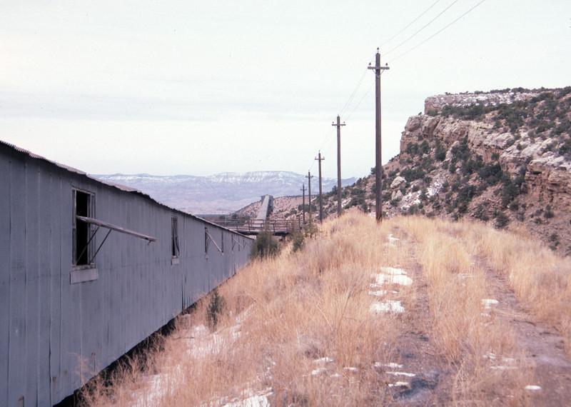 Geneva mine conveyor, mine to preparation plant. February 15, 1987. (Don Strack Photo)