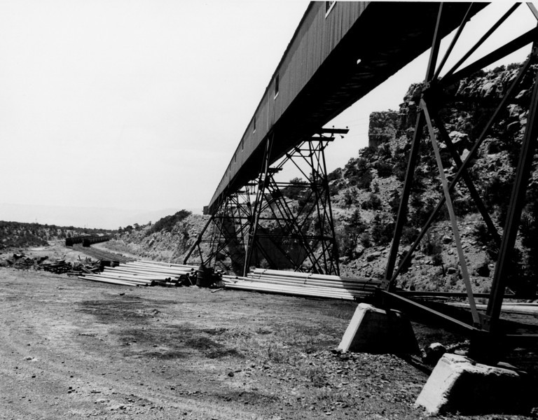 Geneva mine conveyor, mine to preparation plant. (Don Butler Collection)