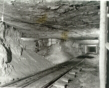 Geneva mine underground interior. (Don Butler Collection)