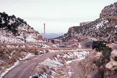 Geneva mine surface buildings. February 15, 1987. (Don Strack Photo)