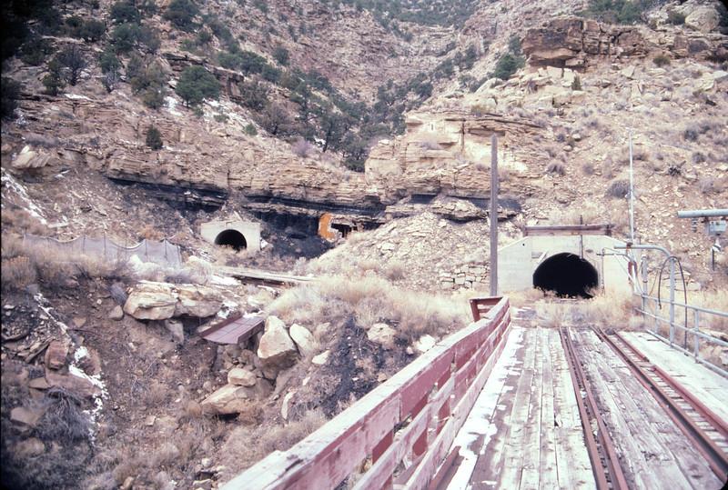 Geneva mine portals. February 15, 1987. (Don Strack Photo)