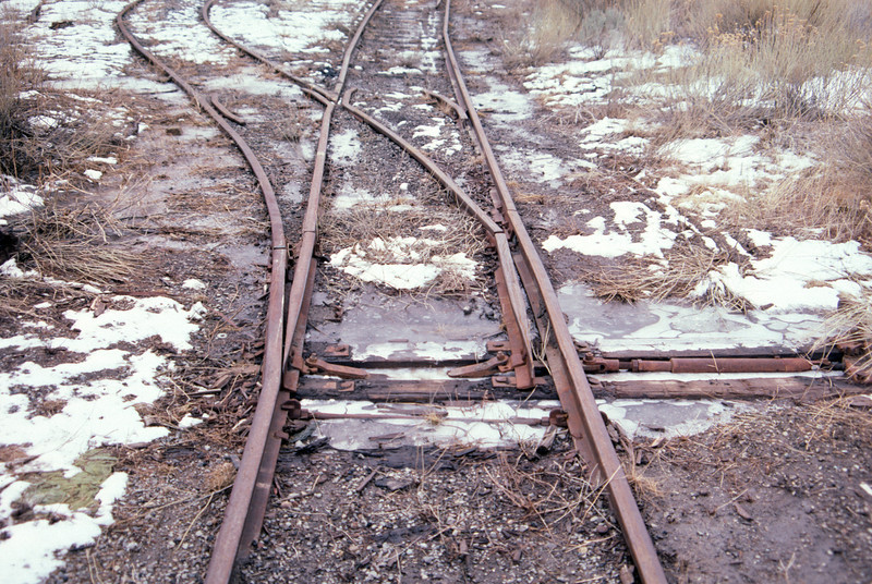 Geneva mine tracks. February 15, 1987. (Don Strack Photo)
