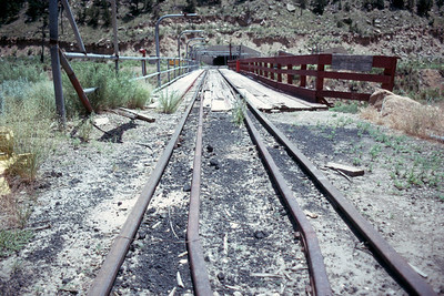 Geneva mine tracks. (Don Butler Photo)