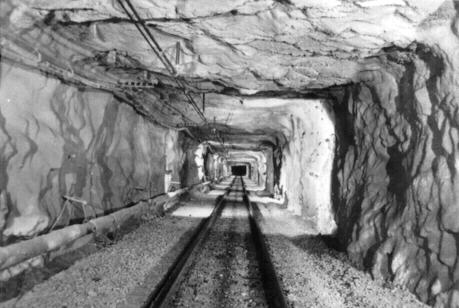 Geneva mine underground interior. (Don Butler Collection)