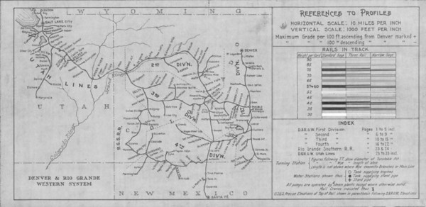 1923 System map and symbol legend