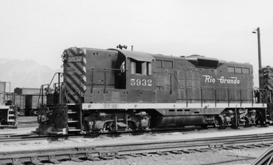 D&RGW GP9 5932, Roper, June 1969. (Don Strack Photo)