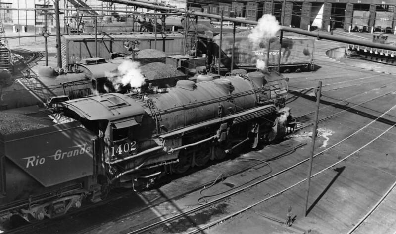 D&RGW 1402, Salt Lake City, 1947.
