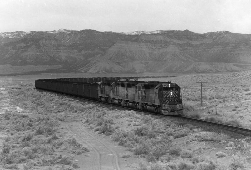 Kaiser K Train, D&RGW Sunnyside Branch, 1971. (Don Strack Photo)