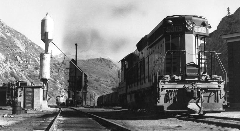 Thistle, Utah, in 1961, just before the slide. (Jim Ozment Photo)