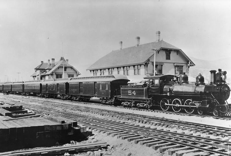 RGW_4-6-0_54_Salt-Lake-City_first-standard-gauge-eastbound_1890