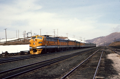 Rio Grande Zephyr at Summit. 1975. (Dave England Photo)
