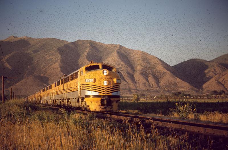 The Prospector passing through Springville. (Dave England Photo)