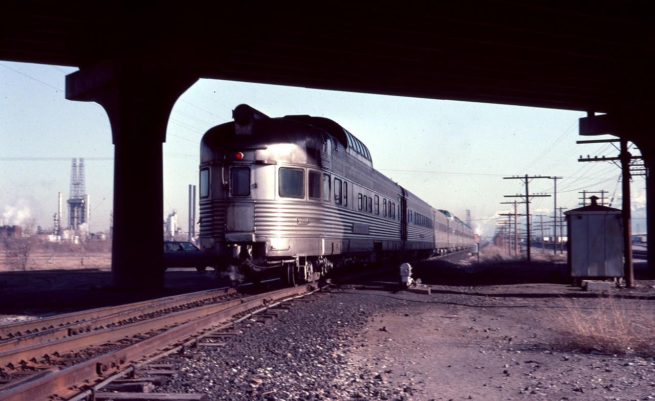 The last eastbound Rio Grande Zephyr, April 15, 1983. (Dave England Photo)