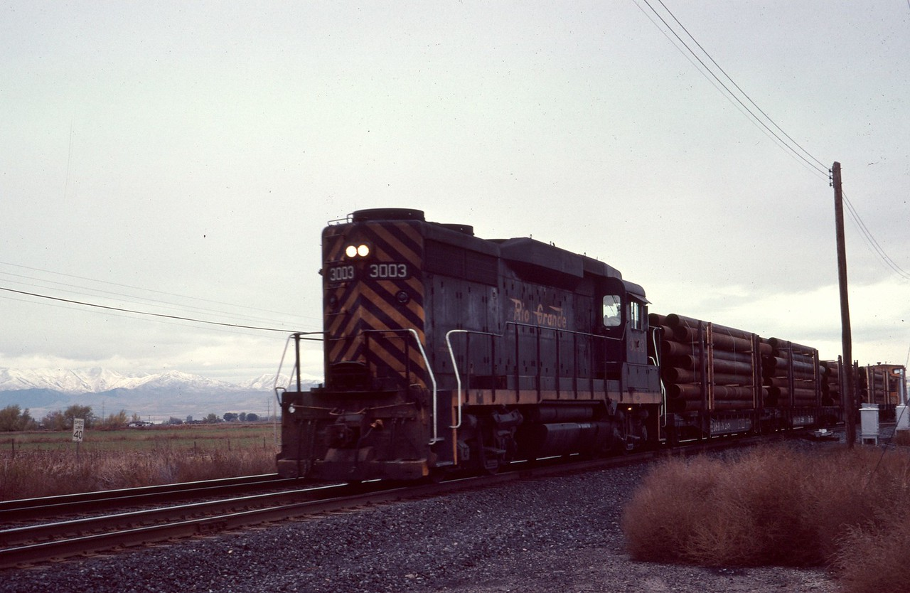 GP30 3003, with train. (Dave England Photo)