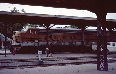 F7 5571 at Salt Lake City depot. June 1967. (Dave England Photo)