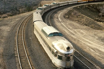 Rio Grande Zephyr at Gilluly. 1975. (Dave England Photo)