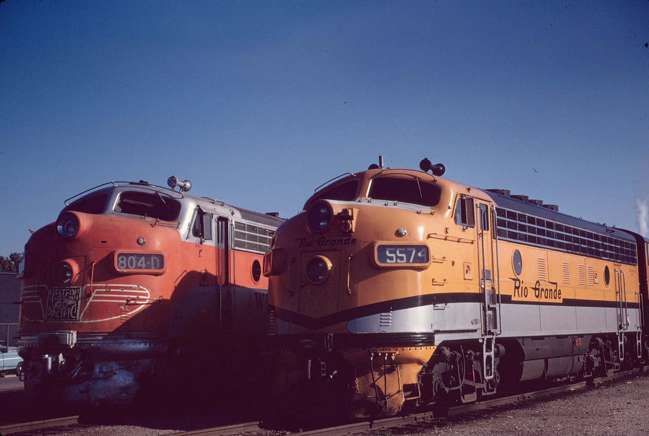 F3 5574 at Salt Lake City depot. June 1967. (Dave England Photo)