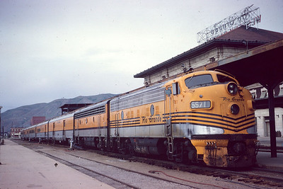 The Prospector at Salt lake City depot. June 1967. (Dave England Photo)