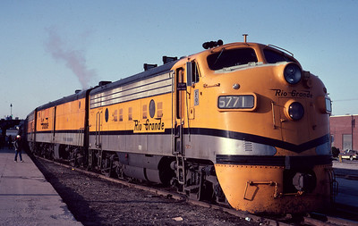 The last eastbound Rio Grande Zephyr, April 15, 1983. (Dave England Photo)