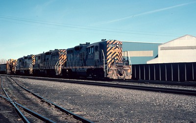 GP9 5931 passing through Provo. March 1978. (Dave England Photo)