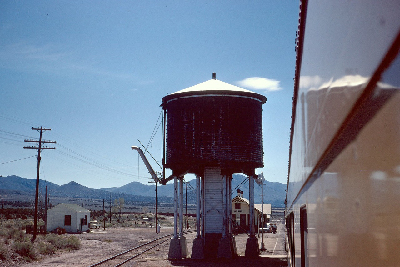 UP Tintic water tower. June 1968. (Dave England Photo)