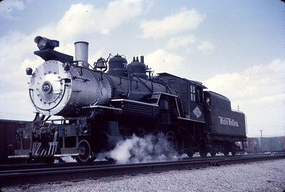 Great Western 75, back in April 1967 during the filming of the movie Devil's Brigade. The movie was filmed at various locations in Utah, with the train scenes being filmed at D&RGW's Midvale yard. (Dave England Photo)