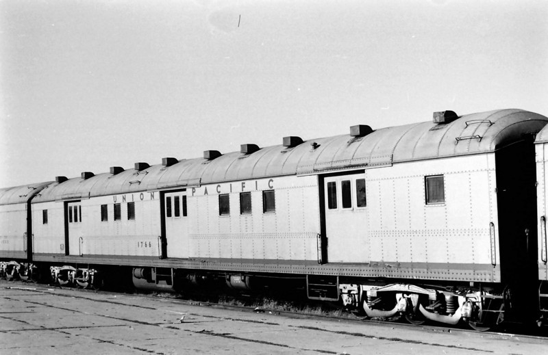 UP 1766, Horse Baggage Automobile, built by AC&F in March 1924. October 1962. Salt Lake City.