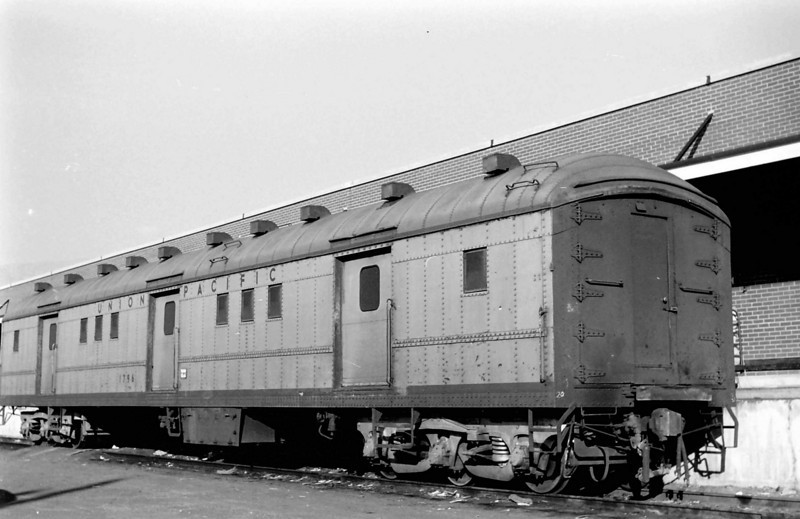 UP 1796, Horse Baggage Automobile, built by AC&F in July 1929. Salt Lake City.