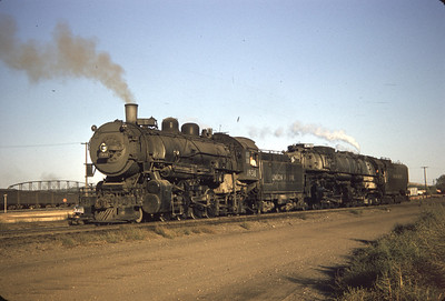 UP 1938 and 3823, Council Bluffs, September 30, 1956. (Dave England Photo)