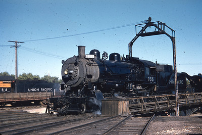 UP 733, Gering, Nebraska., September 28, 1955. (Dave England Photo)
