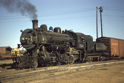 UP 324, Council Bluffs. September 30, 1956. (Dave England Photo)