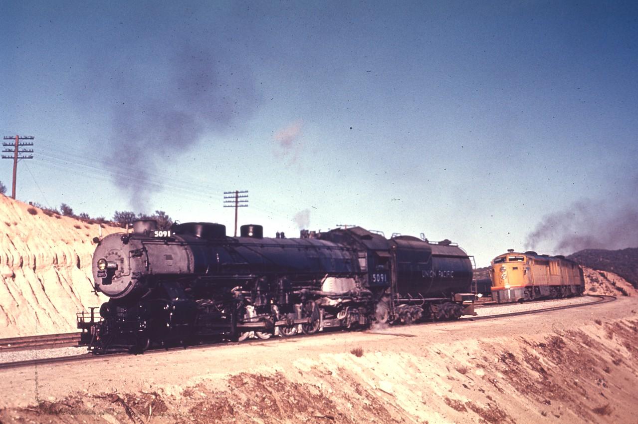 UP 5091, Cajon. (Chard Walker Photo, Dave England Collection)