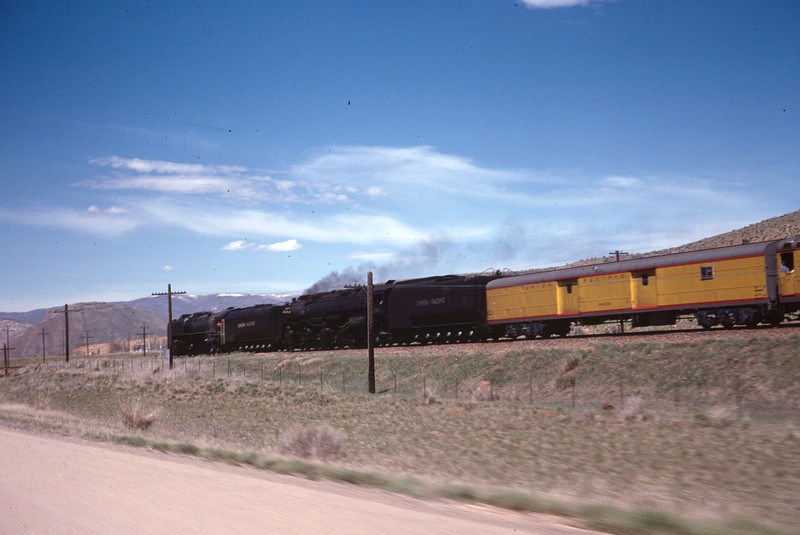 UP 844 and 3985, May 1, 1981. (Dave England Photo)