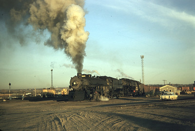UP 5041 and 3815, Council Bluffs, December 1, 1956. (Dave England Photo)