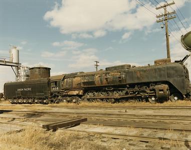 UP 4-8-4 838, Council Bluffs. October 14, 1969. (Dean Gray Photo)