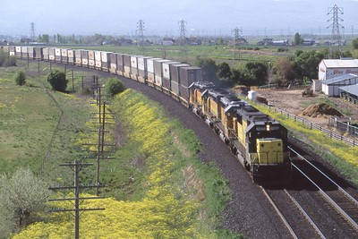 UP-C&NW_SD50_7005-with-train_Kaysville_July-1995_Dean-Gray-photo