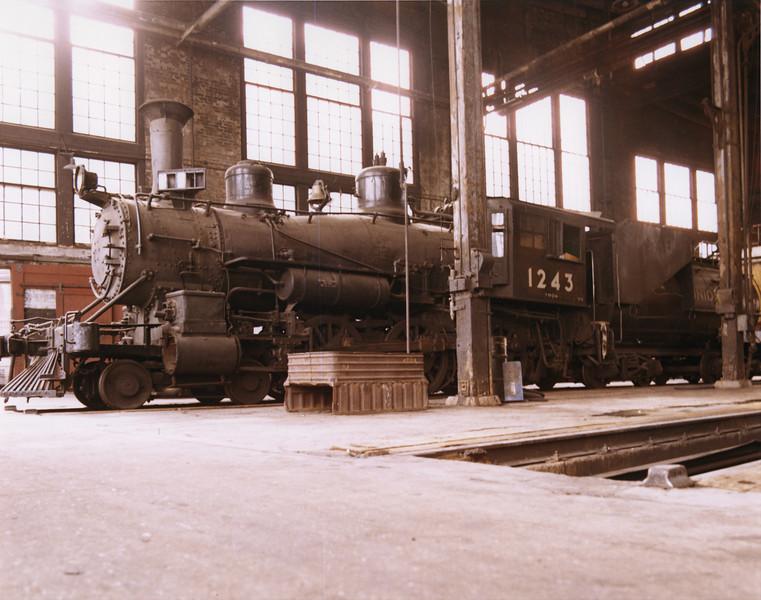 UP 4-6-0 1243, Cheyenne. September 13, 1969. (Dean Gray Photo)