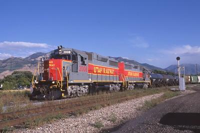 Utah-Ry_GP38_2008-with-train_Ogden_1999_003_Dean-Gray-photo