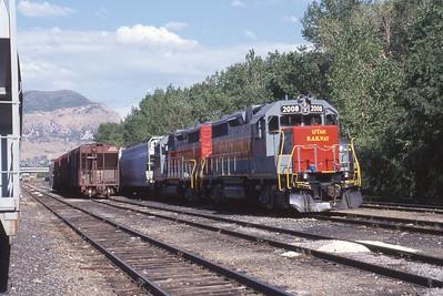Utah-Ry_GP38_2008-with-train_Ogden_1999_001_Dean-Gray-photo