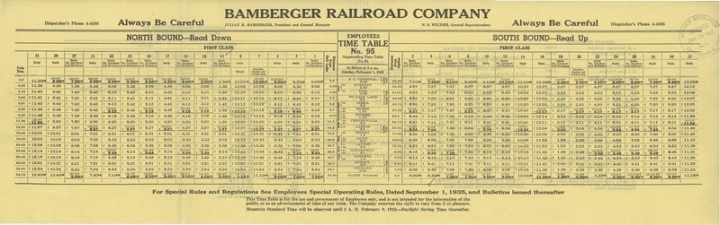 Bamberger-Employee-Timetable_1942_inside