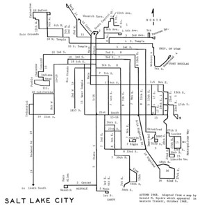 Salt Lake City Lines, 1968. (Motor Coach Age)