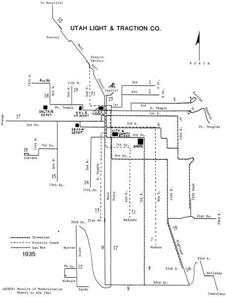 Salt Lake City Street Car Maps