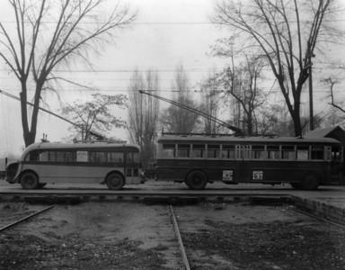 Utah Light & Traction trolley buses. (USHS 383 p.25)