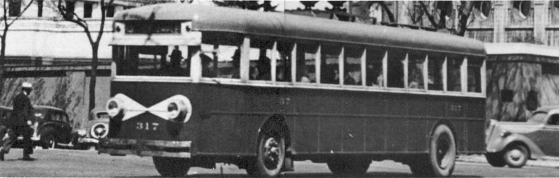 No. 317 is in downtown Salt Lake City. (Motor Bus Society; bw_5-5_20)