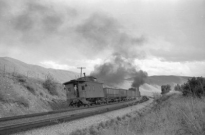 UP_2-8-2_2710-with-train_near-Echo_Aug-25-1951_003_Emil-Albrecht-photo-0277-rescan