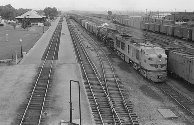 UP_GTE_52-with-train_Laramie_Aug-23-1955_001_Emil-Albrecht-photo-5x7