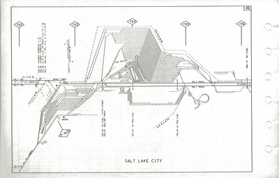 UP track diagram. 1985.