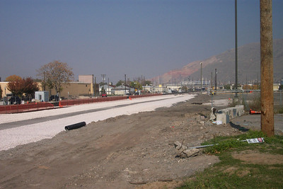 New FrontRunner tracks, 200 North, October 29, 2007. (Don Strack Photo)