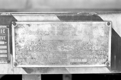 USAF 1239 ownership plate.